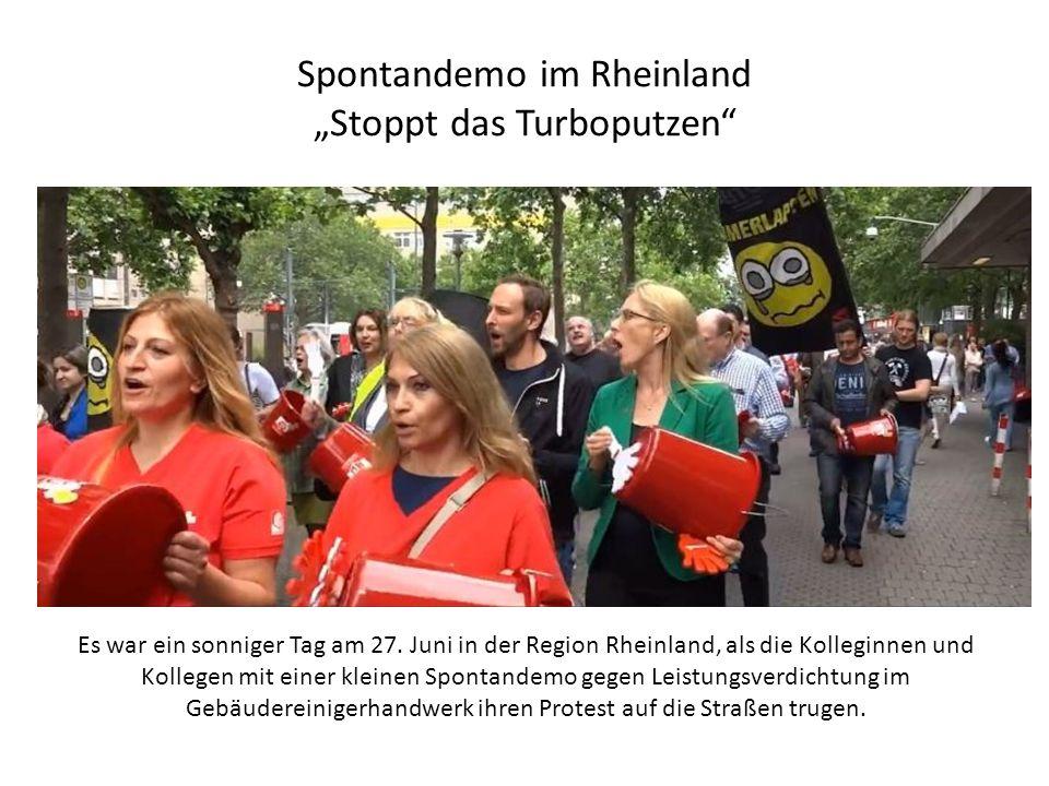 """Spontandemo im Rheinland """"Stoppt das Turboputzen Es war ein sonniger Tag am 27."""