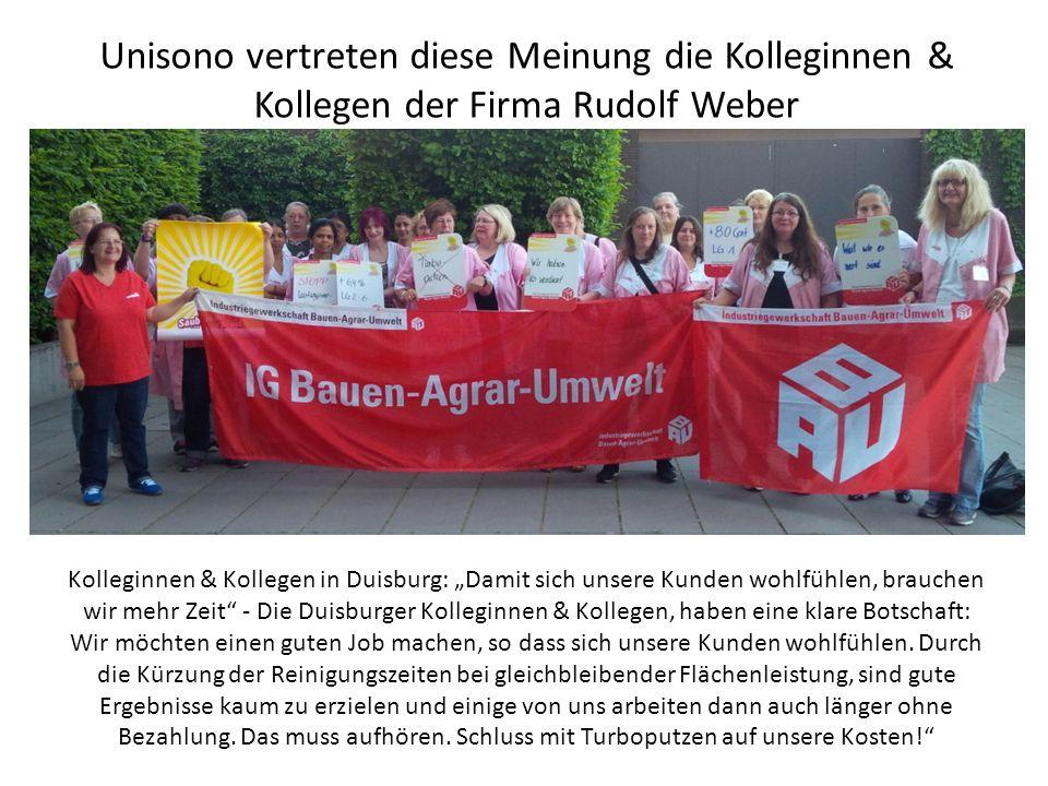 """Unisono vertreten diese Meinung die Kolleginnen & Kollegen der Firma Rudolf Weber Kolleginnen & Kollegen in Duisburg: """"Damit sich unsere Kunden wohlfühlen, brauchen wir mehr Zeit - Die Duisburger Kolleginnen & Kollegen, haben eine klare Botschaft: Wir möchten einen guten Job machen, so dass sich unsere Kunden wohlfühlen."""