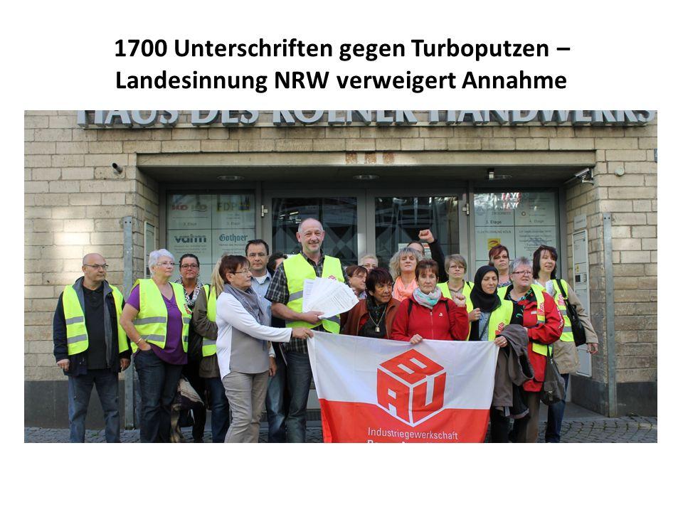 1700 Unterschriften gegen Turboputzen – Landesinnung NRW verweigert Annahme