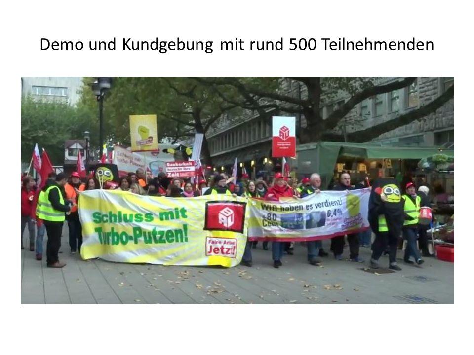 Demo und Kundgebung mit rund 500 Teilnehmenden