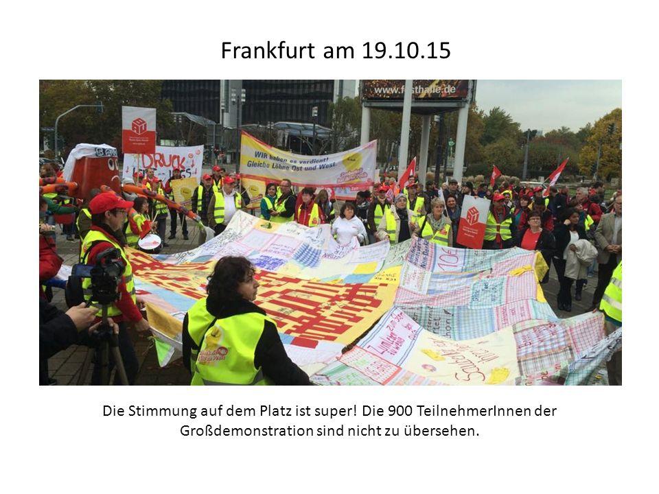 Frankfurt am 19.10.15 Die Stimmung auf dem Platz ist super.