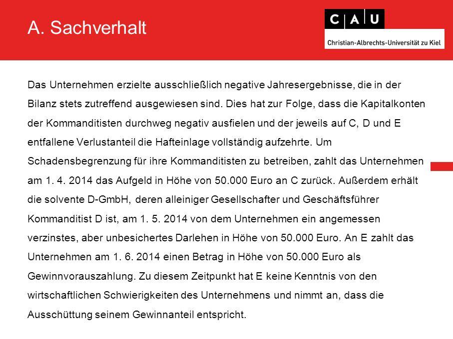 A.Sachverhalt Am 1. 12.
