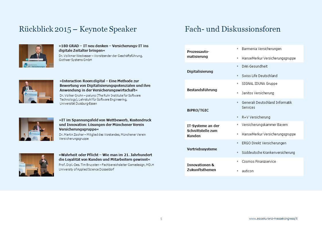 www.assekuranz-messekongress/it 5 »Wahrheit oder Pflicht – Wie man im 21.