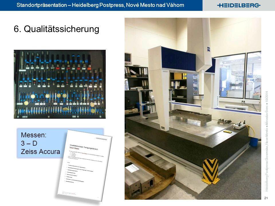 Standortpräsentation – Heidelberg Postpress, Nové Mesto nad Váhom 21 Messen: 3 – D Zeiss Accura 6.