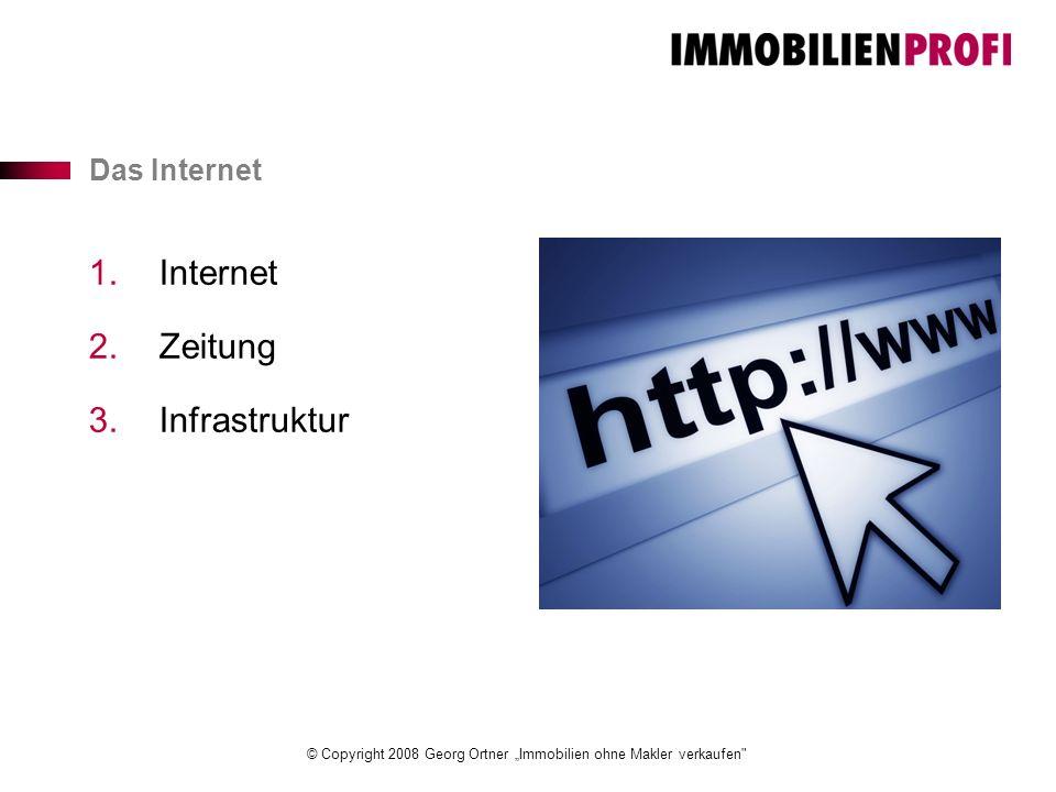 """© Copyright 2008 Georg Ortner """"Immobilien ohne Makler verkaufen Das Internet 1.Internet 2.Zeitung 3.Infrastruktur"""