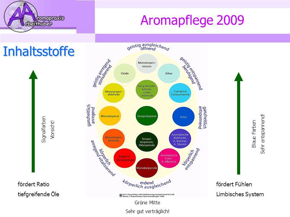 Aromapflege 2009 Inhaltsstoffe fördert Ratio tiefgreifende Öle fördert Fühlen Limbisches System Signalfarben Vorsicht.