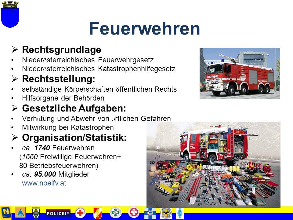 2. Teil Fähigkeiten und legislative Bedingungen für den Einsatz der niederösterreichischen Hilfs- und Einsatzorganisationen bei außerordentlichen Erei
