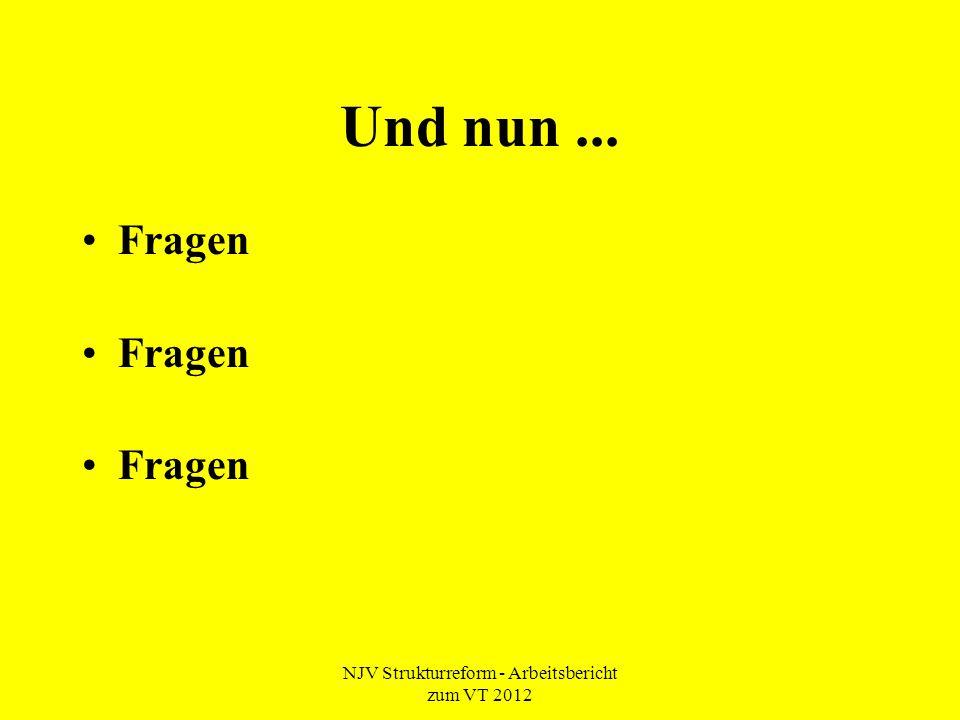 NJV Strukturreform - Arbeitsbericht zum VT 2012 Und nun... Fragen