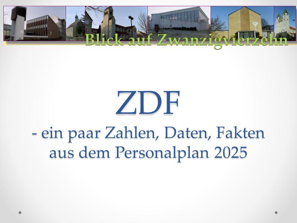ZDF - ein paar Zahlen, Daten, Fakten aus dem Personalplan 2025