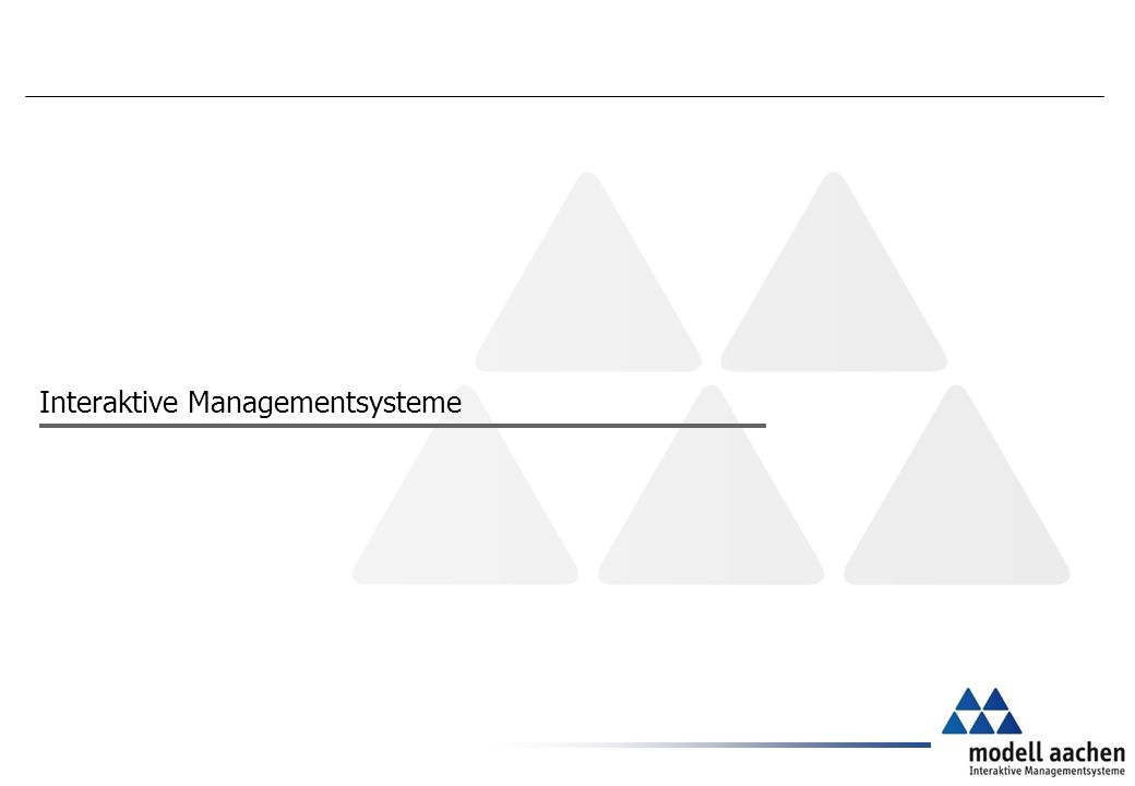Interaktive Managementsysteme