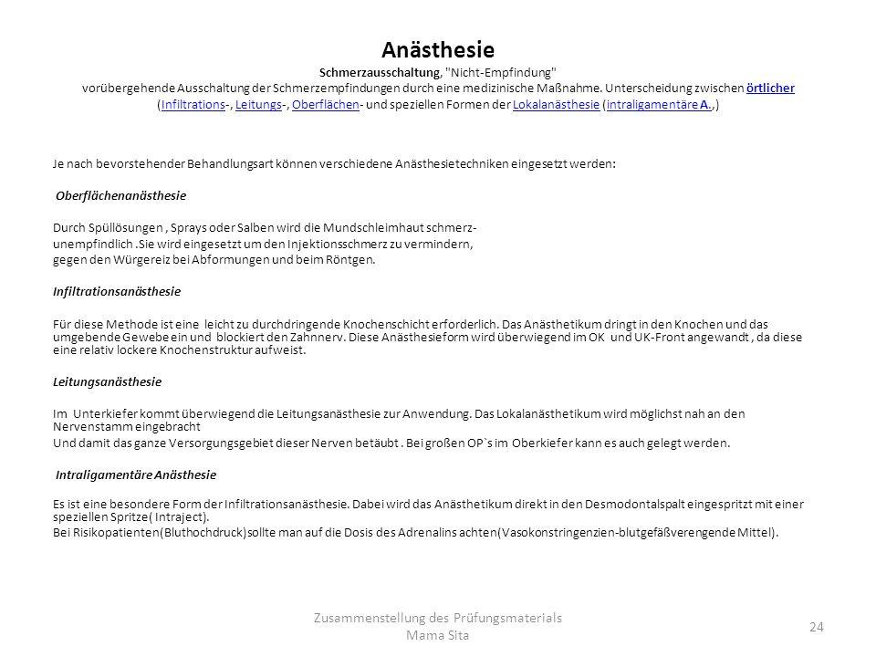 Anästhesie Schmerzausschaltung,