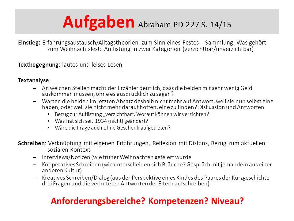 Aufgaben Abraham PD 227 S.