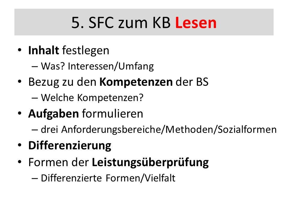 5. SFC zum KB Lesen Inhalt festlegen – Was.