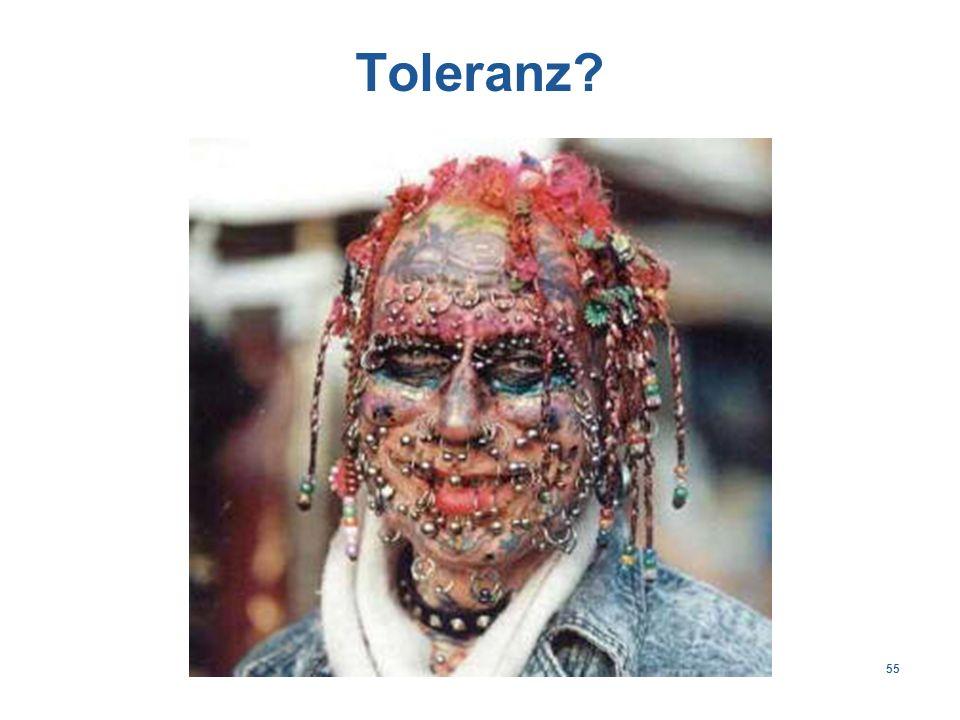 55 Toleranz