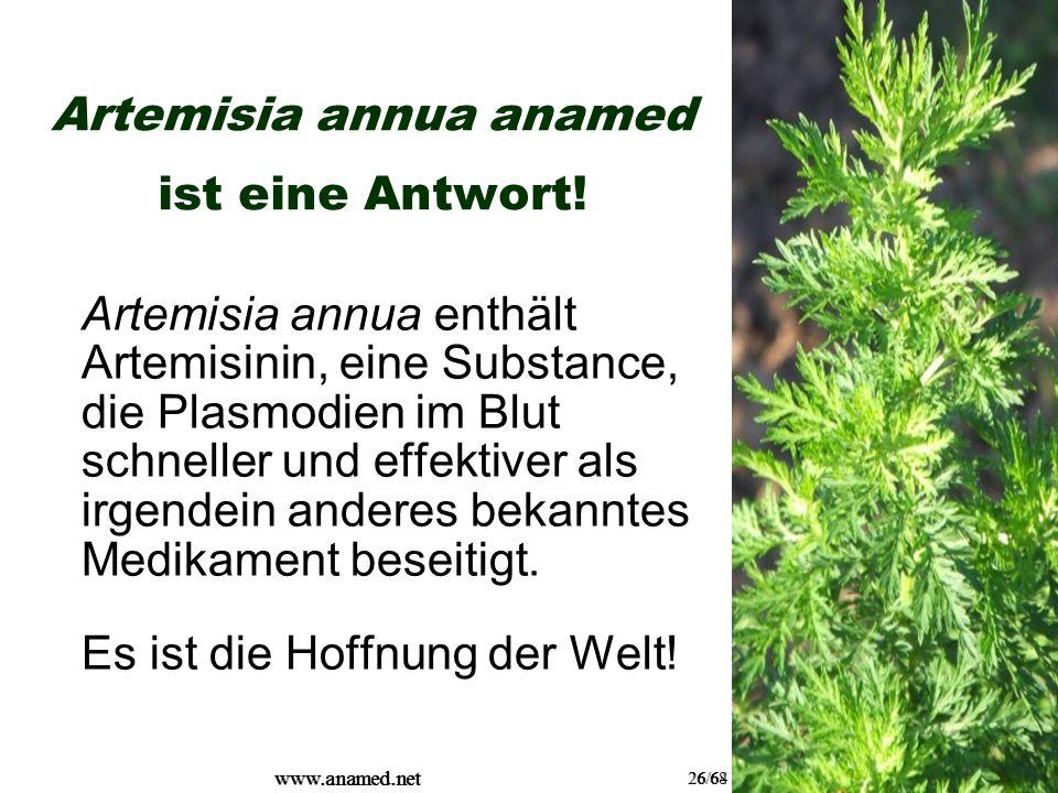 www.anamed.net 26/64 www.anamed.net 26/68 Artemisia annua anamed ist eine Antwort.