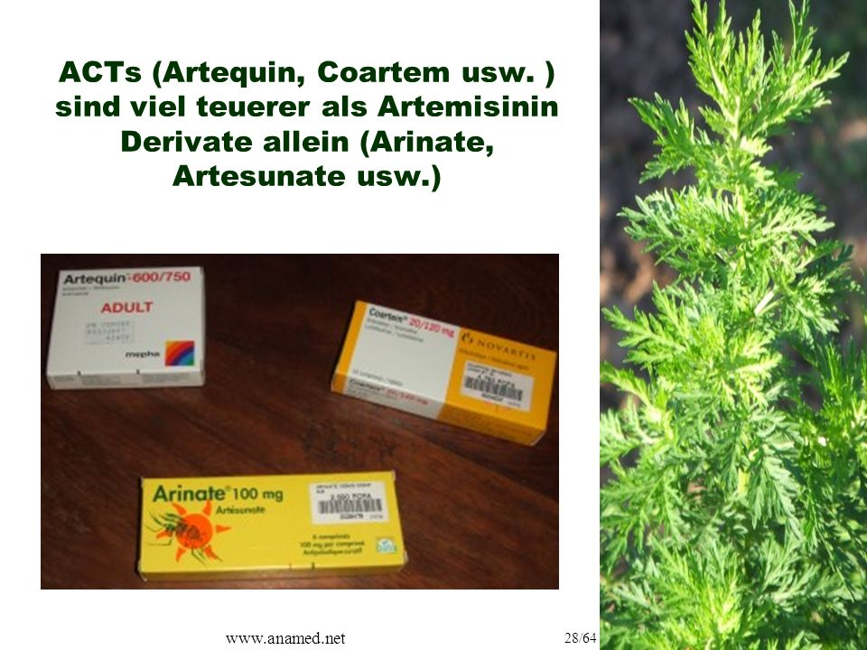 www.anamed.net 28/64 ACTs (Artequin, Coartem usw.