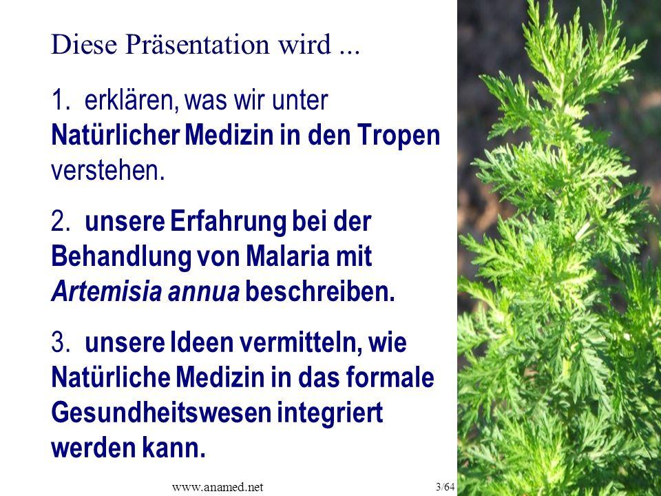 www.anamed.net 3/64 1. erklären, was wir unter Natürlicher Medizin in den Tropen verstehen.