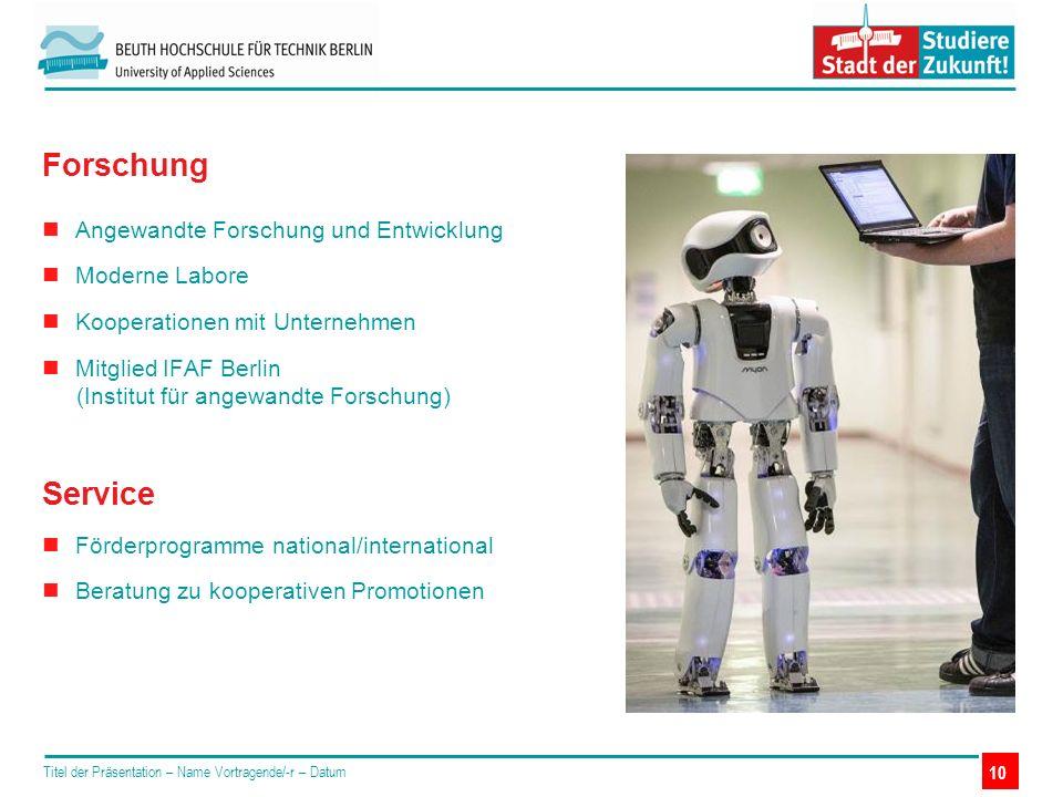Angewandte Forschung und Entwicklung Moderne Labore Kooperationen mit Unternehmen Mitglied IFAF Berlin (Institut für angewandte Forschung) Service För
