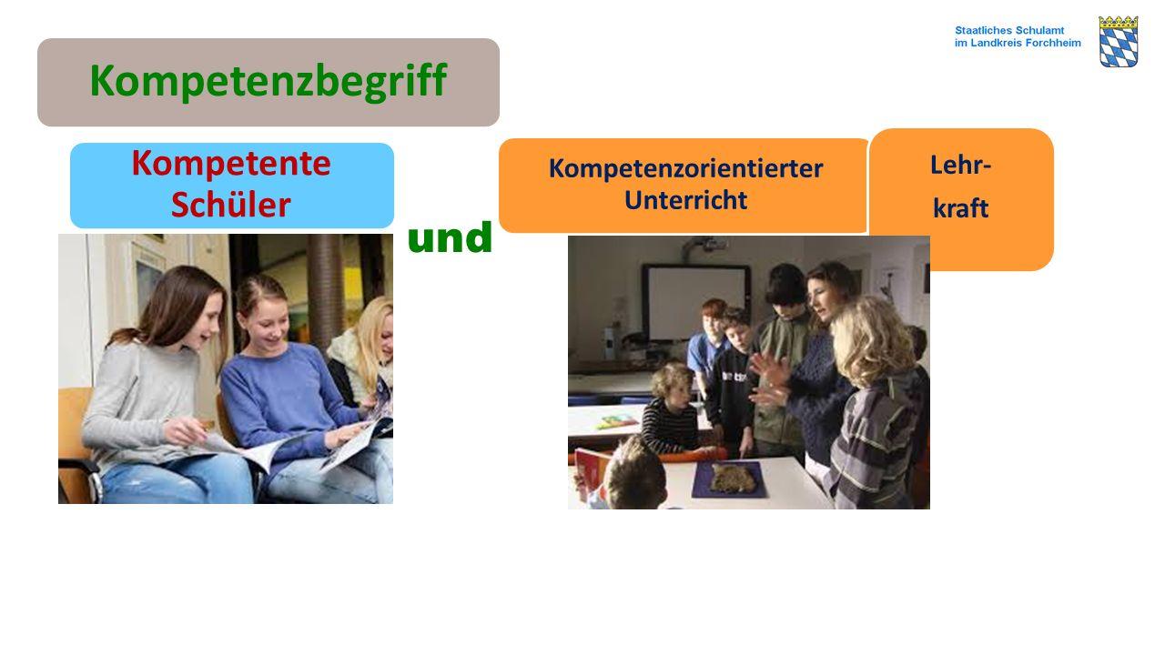 und Kompetenzbegriff Kompetente Schüler Kompetenzorientierter Unterricht Lehr- kraft