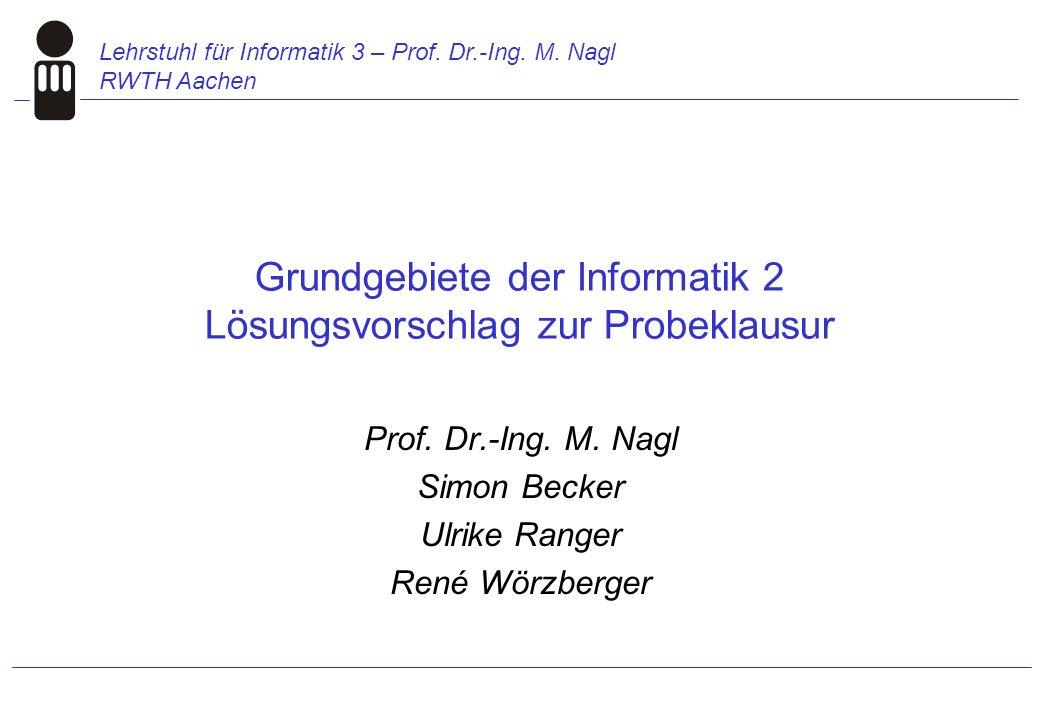 Lehrstuhl für Informatik 3 – Prof. Dr.-Ing. M.