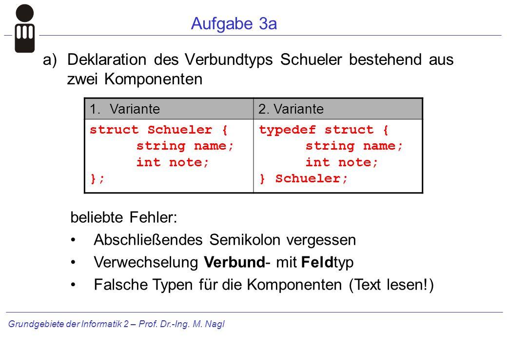 Grundgebiete der Informatik 2 – Prof.Dr.-Ing. M.