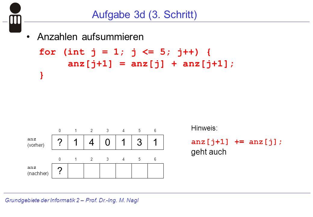 Grundgebiete der Informatik 2 – Prof.Dr.-Ing. M. Nagl Aufgabe 3d (3.