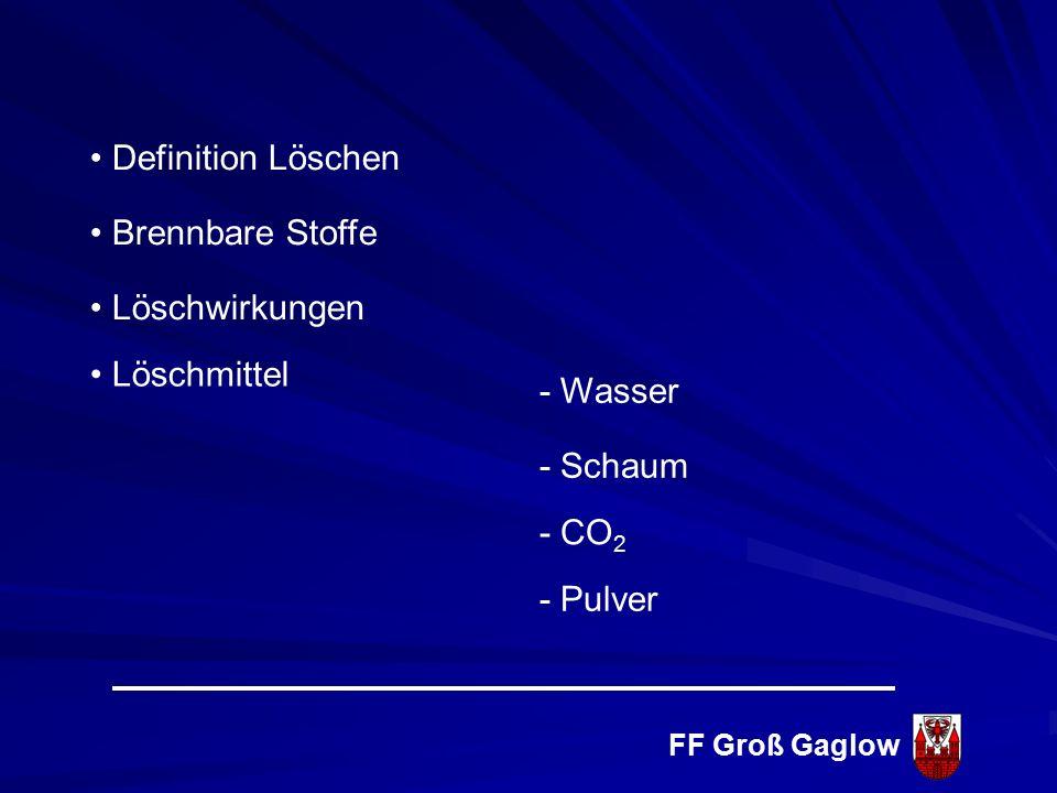 FF Groß Gaglow Löschen
