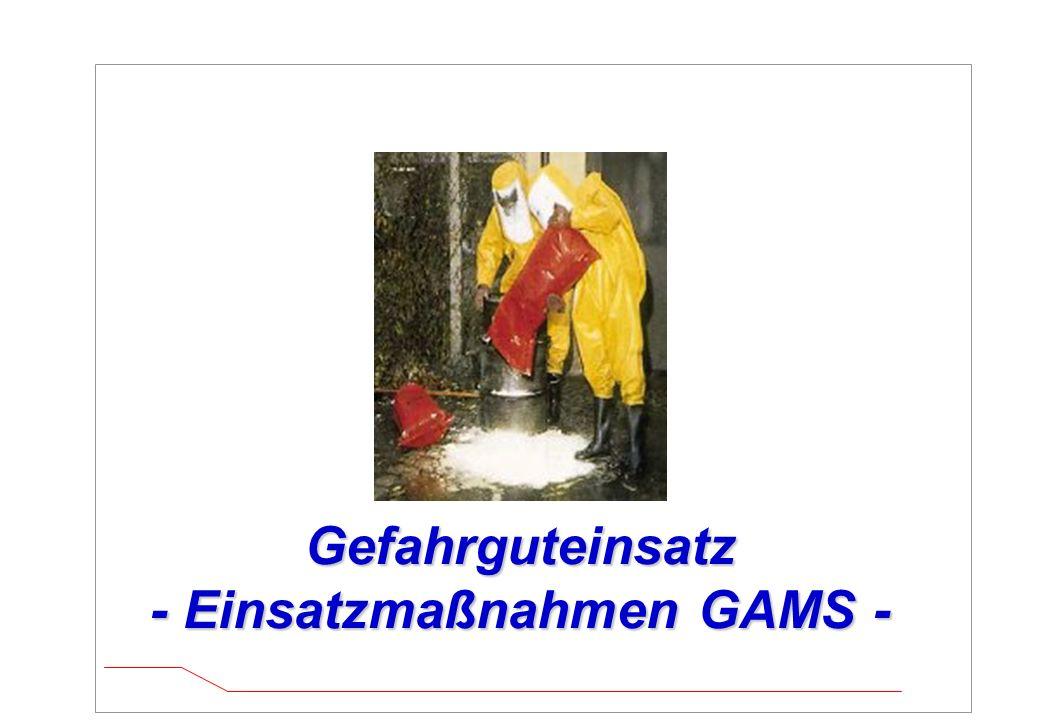 Gefahrguteinsatz - Einsatzmaßnahmen GAMS -