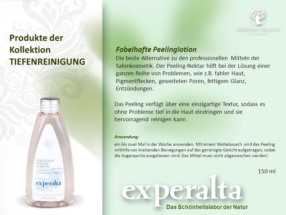 Das Schönheitslabor der Natur Fabelhafte Peelinglotion Die beste Alternative zu den professionellen Mitteln der Salonkosmetik.