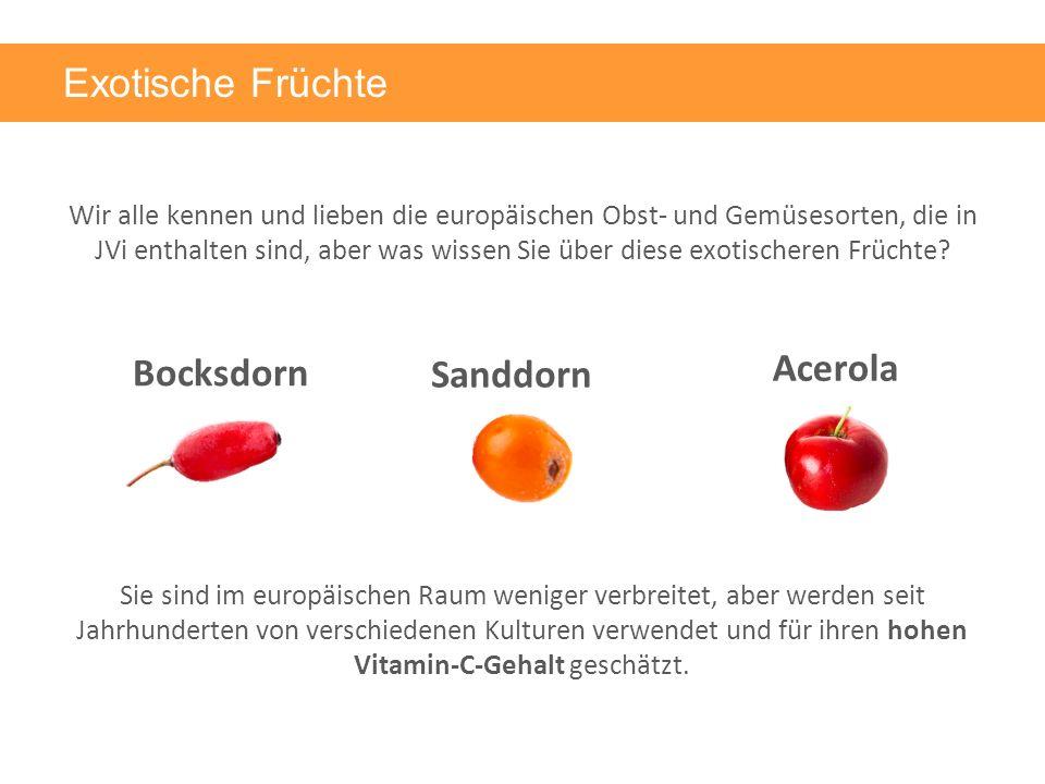 Bocksdorn Exotische Früchte Wir alle kennen und lieben die europäischen Obst- und Gemüsesorten, die in JVi enthalten sind, aber was wissen Sie über diese exotischeren Früchte.