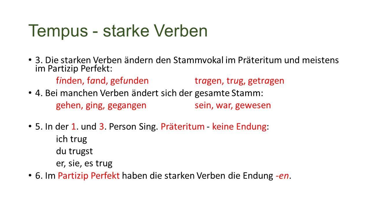 Tempus - starke Verben 3.