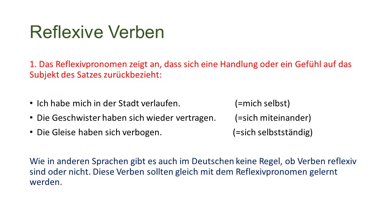 Reflexive Verben 1.
