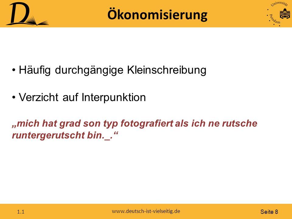 Seite 19 www.deutsch-ist-vielseitig.de 1.1 Im Unterricht Was bedeutet das für meinen Unterricht.