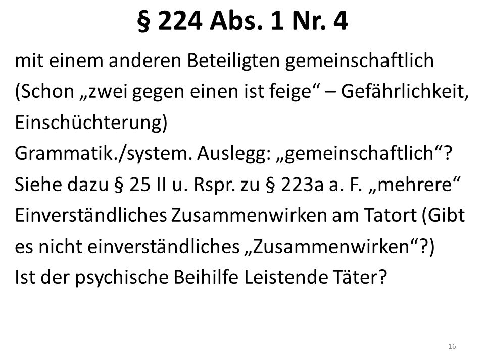 § 224 Abs. 1 Nr.