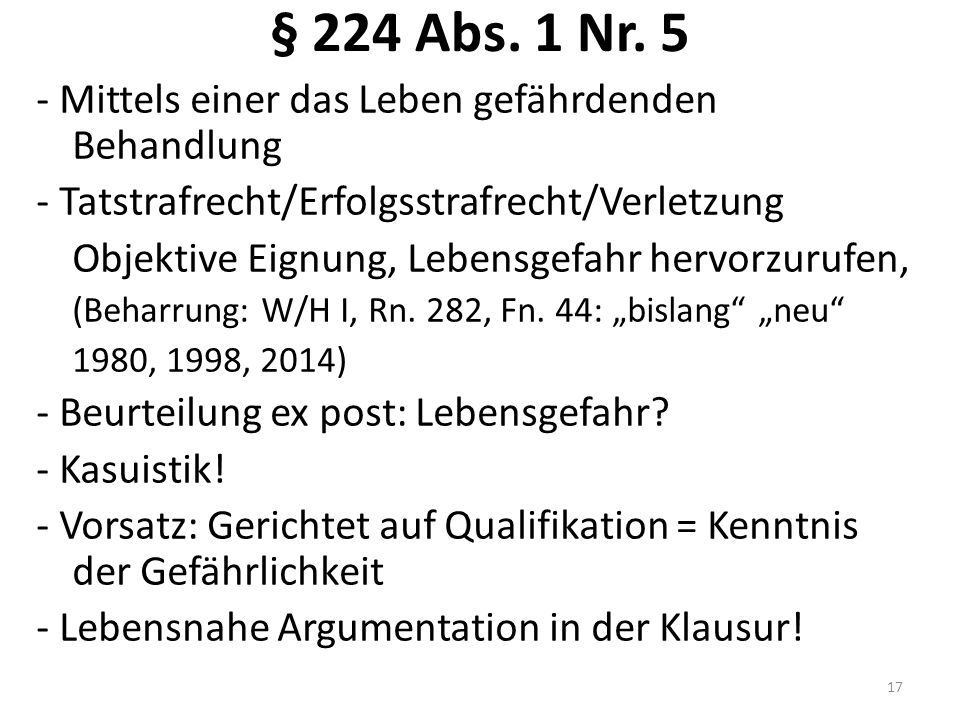 § 224 Abs.1 Nr.