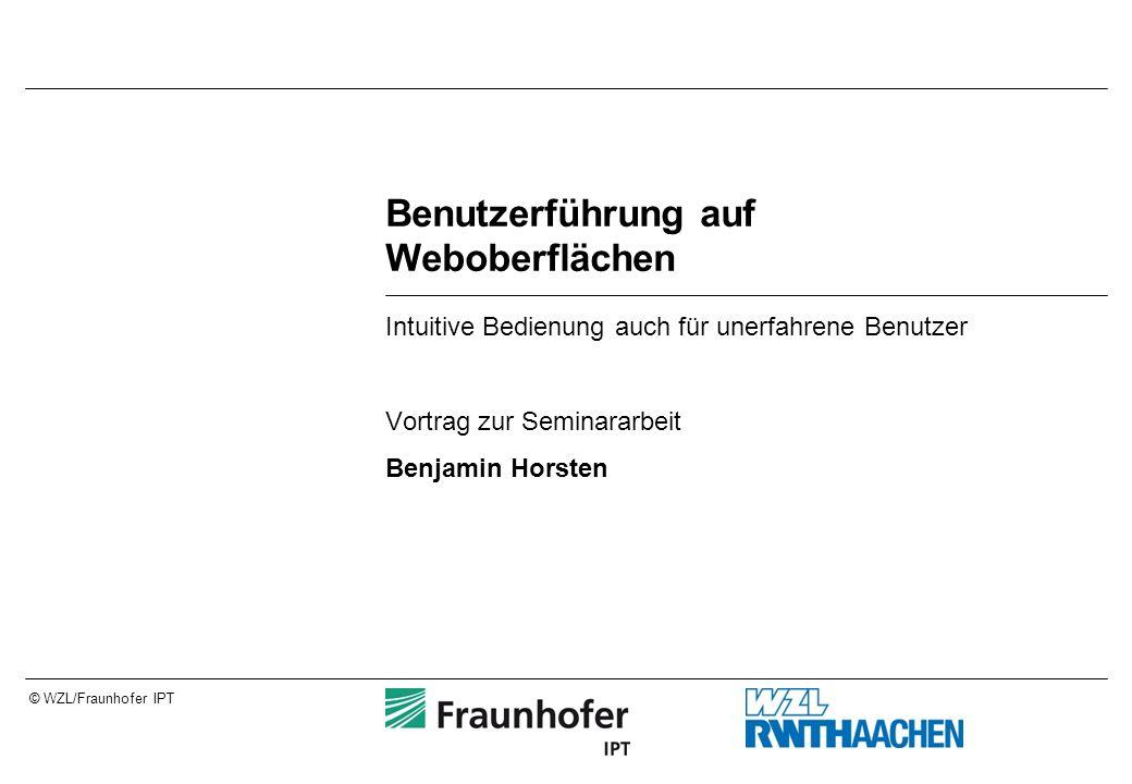 Seite 2© WZL/Fraunhofer IPT Gliederung 10 häufige Fehler in Webprojekten Beispiele aus dem Internet Beispiele aus dem Dispotool Verbesserungsmöglichkeiten Ausblick