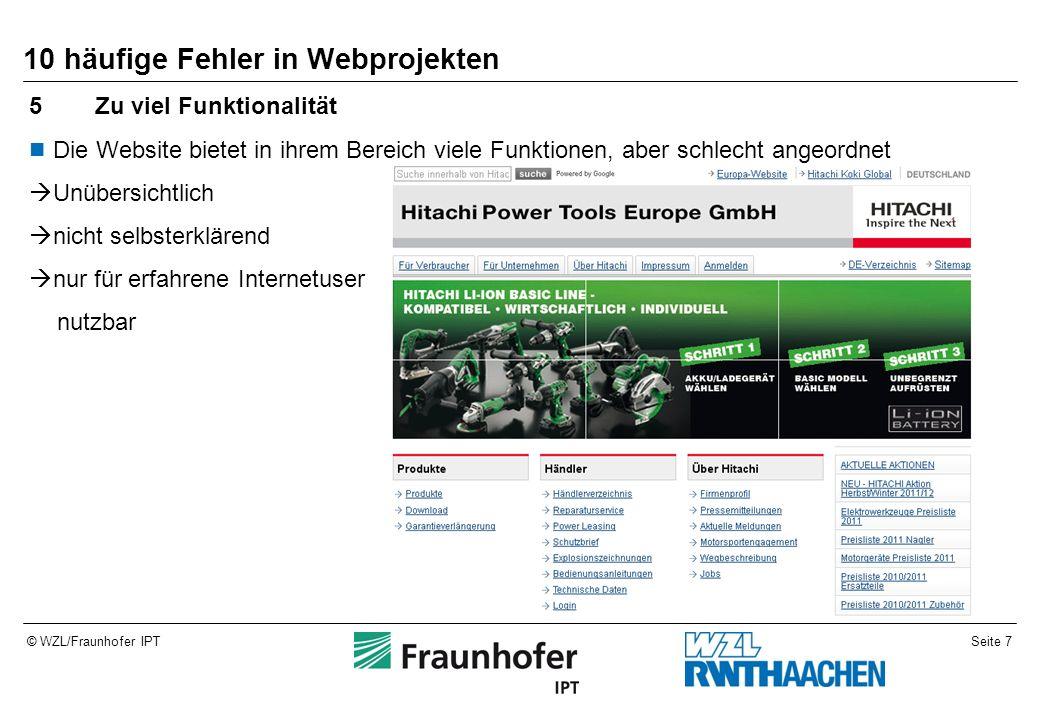 Seite 18© WZL/Fraunhofer IPT Beispiele aus dem Dispotool – Uploadseite nachher Format der Eingangsdaten