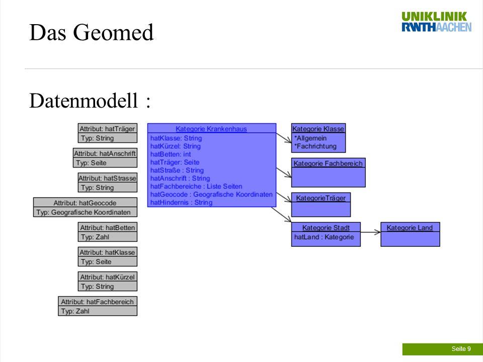 Das Geomed Datenmodell : Seite 9