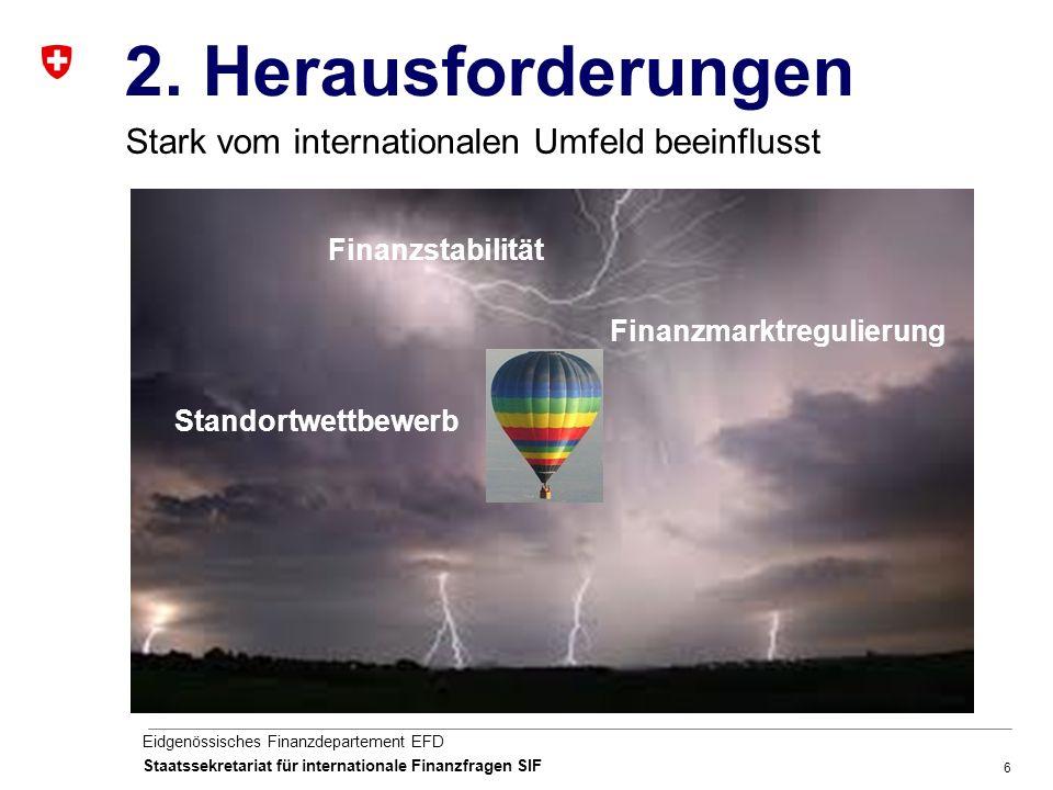 6 Eidgenössisches Finanzdepartement EFD Staatssekretariat für internationale Finanzfragen SIF 2.