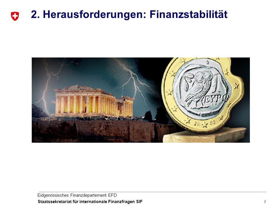 7 Eidgenössisches Finanzdepartement EFD Staatssekretariat für internationale Finanzfragen SIF 2.