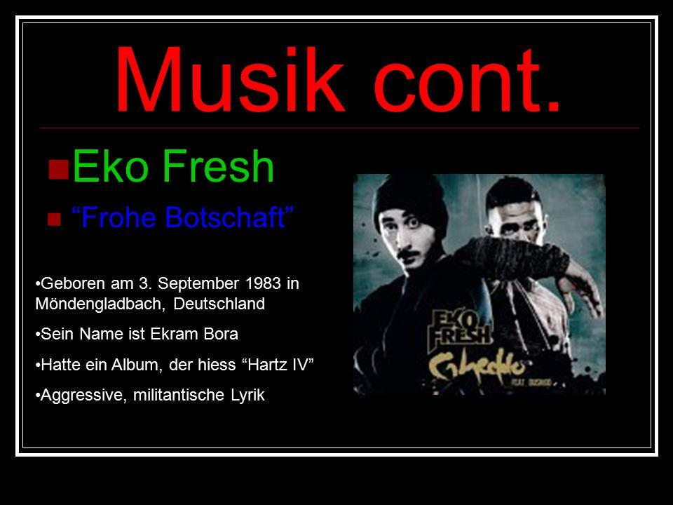 Musik cont. Eko Fresh Frohe Botschaft Geboren am 3.