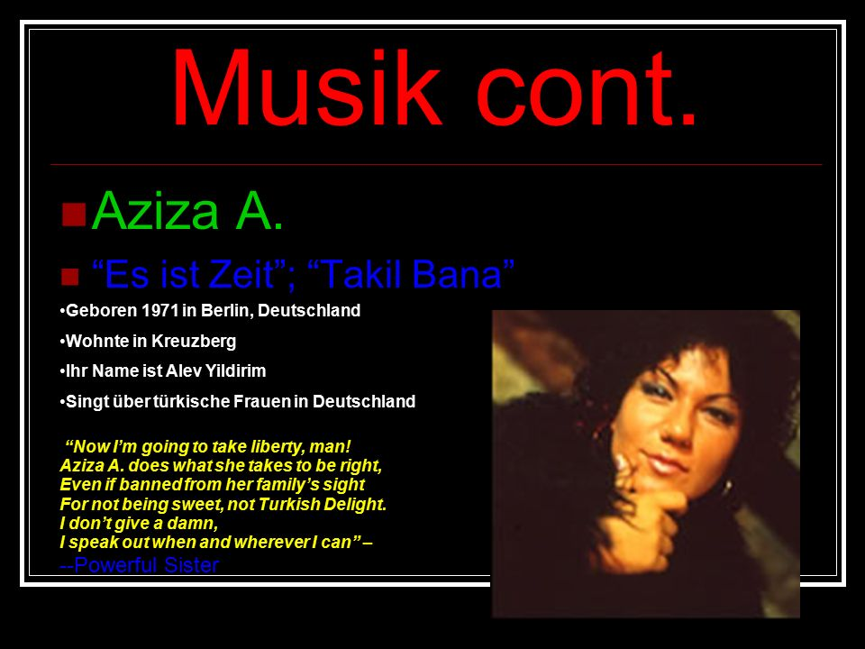 Musik cont. Aziza A.