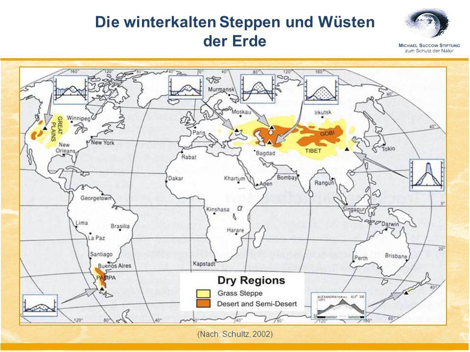 (Nach: Schultz, 2002) Die winterkalten Steppen und Wüsten der Erde