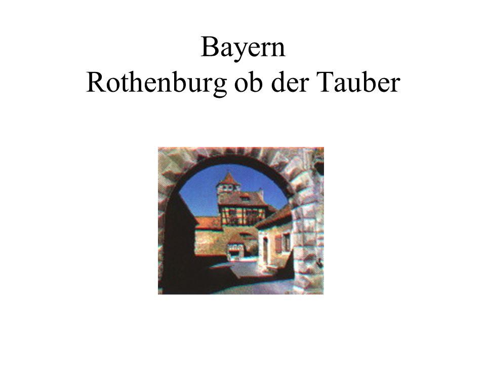 Bayern Rothenburg ob der Tauber
