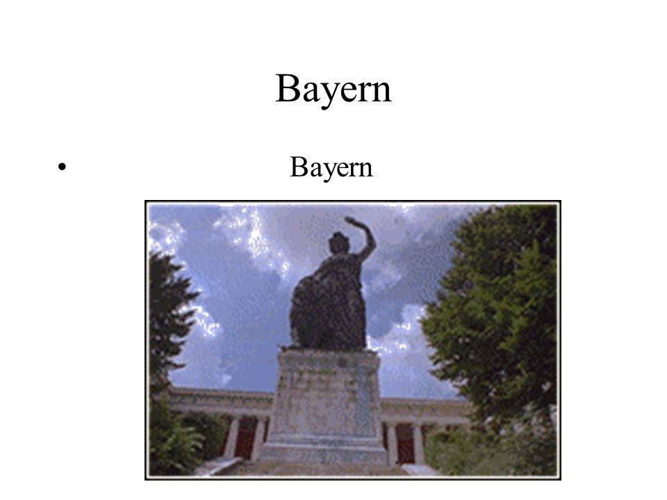 Die Hauptstadt von Bayern ist München.Bayern ist an Fläche das größte Land Deutschlands.