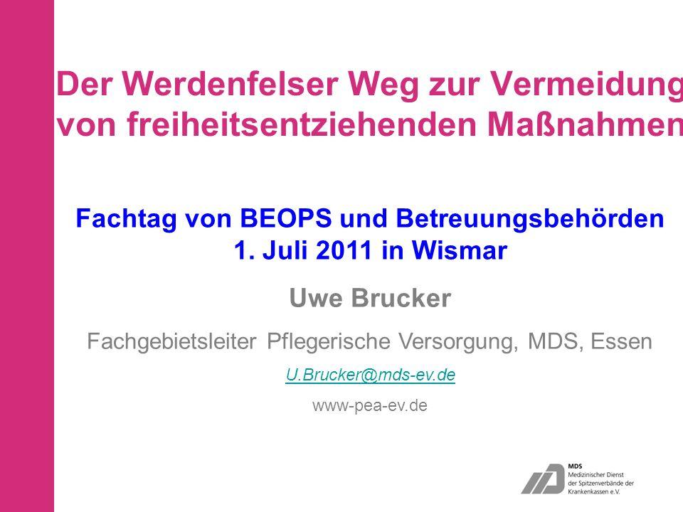 Uwe Brucker - MDS e.V. - Fachgebiet Pflegerische Versorgung 42