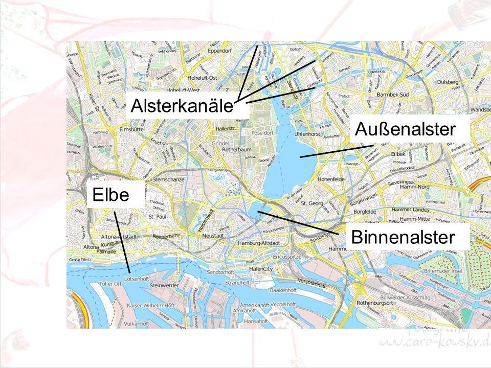 Elbe Außenalster Binnenalster Alsterkanäle