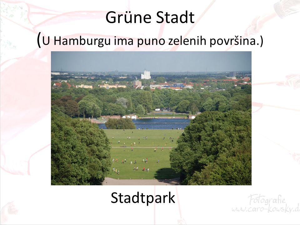 Grüne Stadt ( U Hamburgu ima puno zelenih površina.) Stadtpark