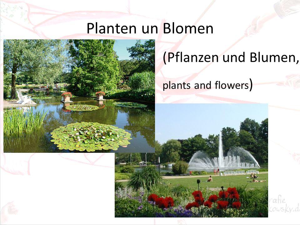 Planten un Blomen (Pflanzen und Blumen, plants and flowers )