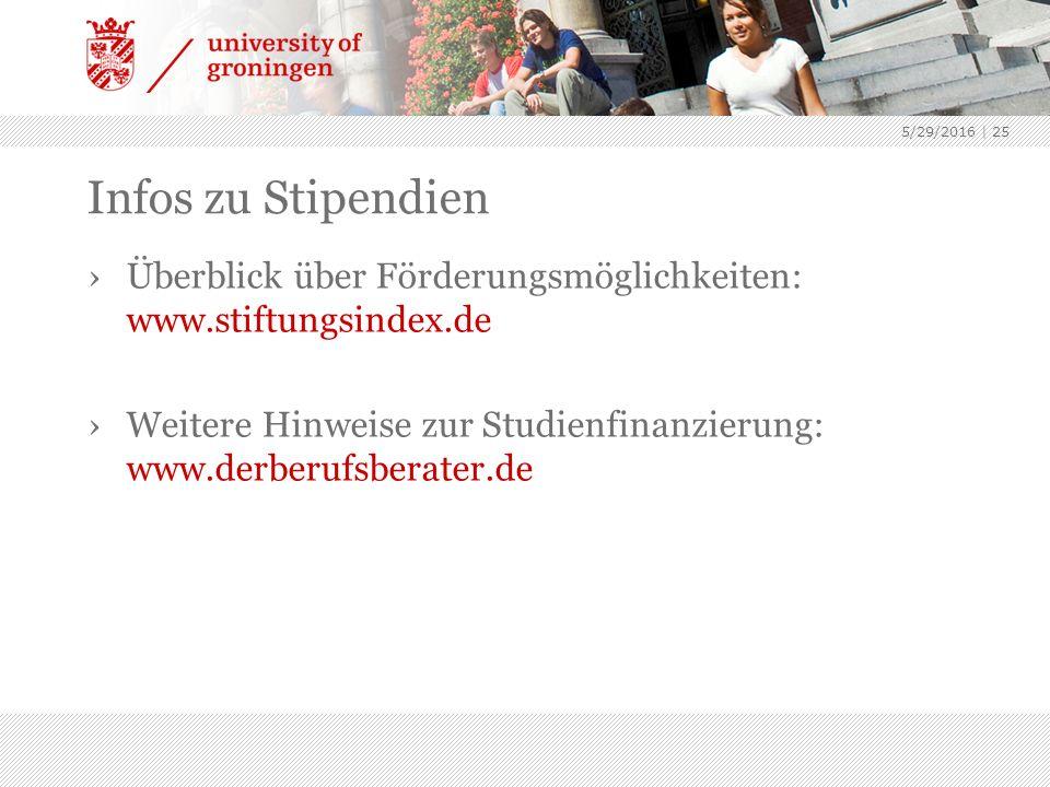 5/29/2016 | 25 Infos zu Stipendien ›Überblick über Förderungsmöglichkeiten: www.stiftungsindex.de ›Weitere Hinweise zur Studienfinanzierung: www.derberufsberater.de